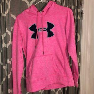 pink under armor hoodie